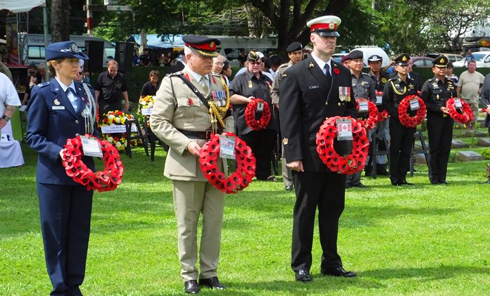 Defence Attaches lay their wreaths.