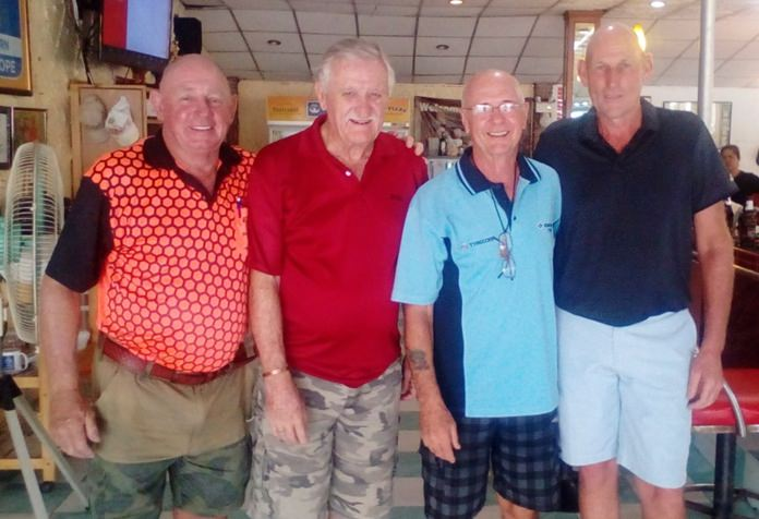 (L-R) Capt. Bob with John Player, Peter Bird and Lloyd Shuttleworth.