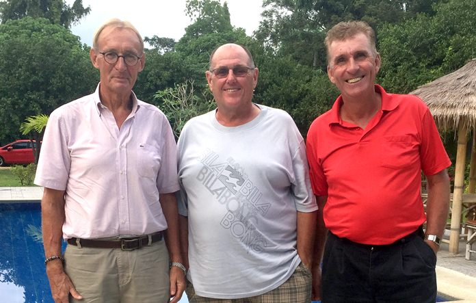 (L-R) Willem Lasonder with Stan Rees and Neil Harvey.