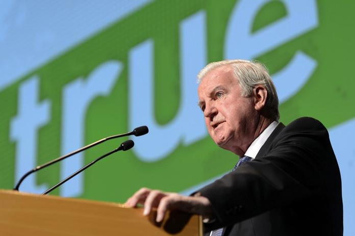 Craig Reedie, President of the World Anti-Doping Agency, WADA. (Laurent Gillieron/Keystone via AP, File)