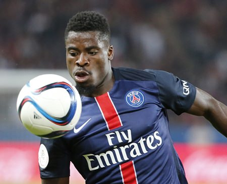 Paris Saint Germain defender Serge Aurier. (AP Photo/Jacques Brinon)