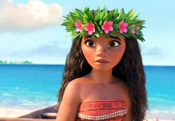 "This image shows the character Moana, voiced by Auli'i Cravalho, in a scene from the animated film, ""Moana."" (Disney via AP)"