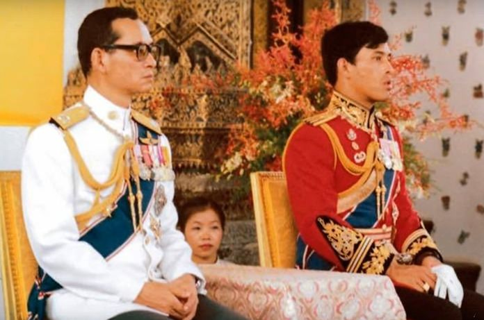 Father and Son officiate a royal ceremony.
