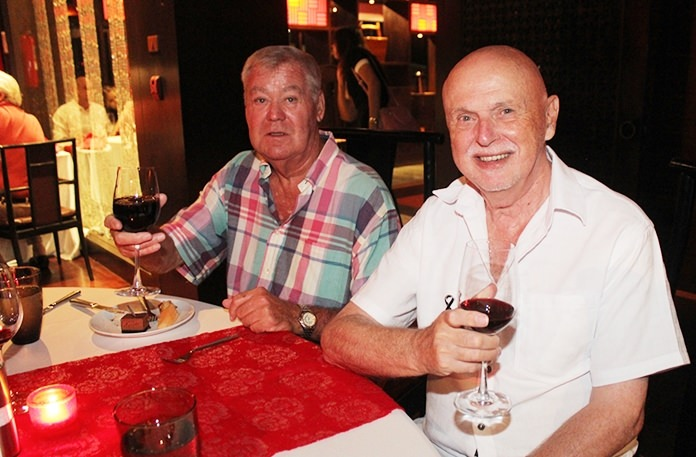 Some happy faces of those who attended the recent George Wyndham Wine experience at the Mantra Restaurant.