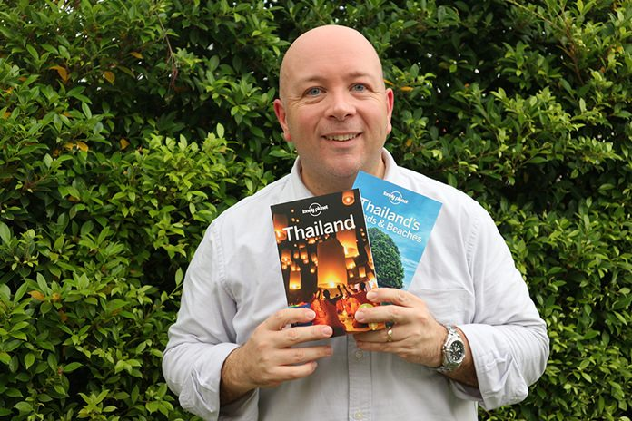 Lonely Planet: Author Mark Beales with the new Lonely Planet Thailand and Thailand's Islands & Beaches guides.