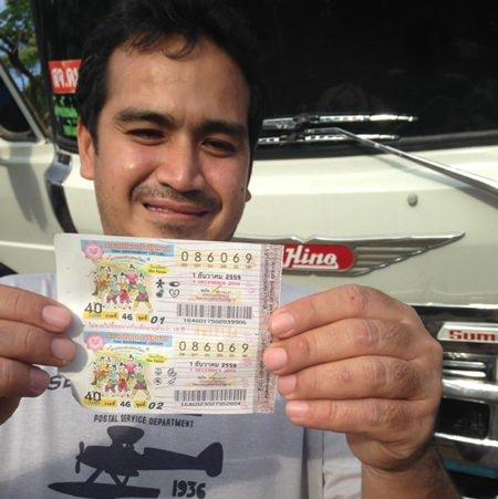 Worapot Boonpiam man won 6 million baht in the Dec. 1 government lottery.