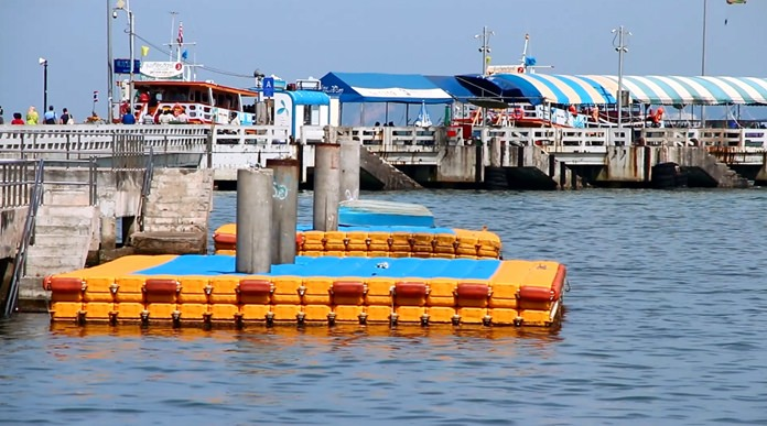 Authorities told boat owners they could only take on or let off passengers on floating docks at Bali Hai.