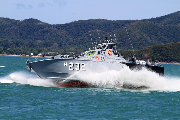 The Sattahip Naval Base took delivery of six new patrol boats to be used by battle and coast guard squadrons.