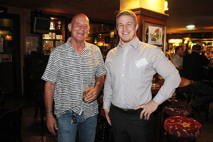 Phil Hull of North Star Marketing with Stephan Cocker GM D&W (Asia).