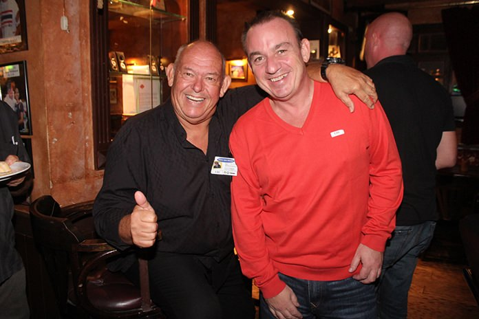 Regular networkers Rodney Charman and Mark Bowling.