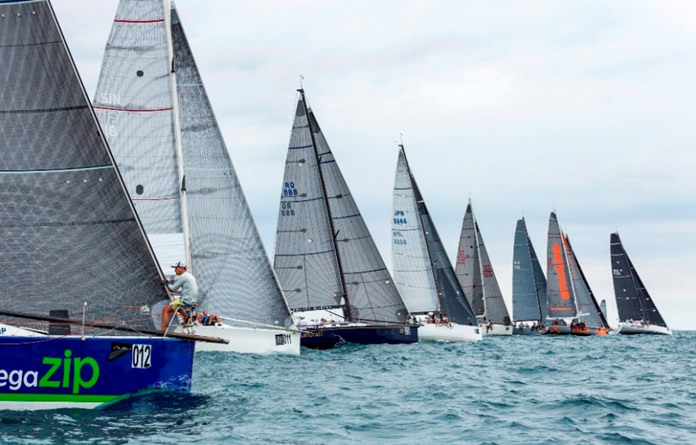 IRC1 competitors line up at the start of another race.