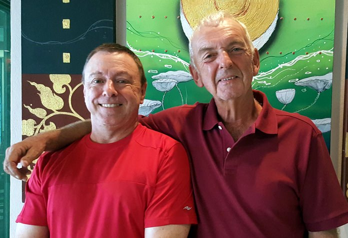 Tom Herrington (left) with Mick Coghlan.