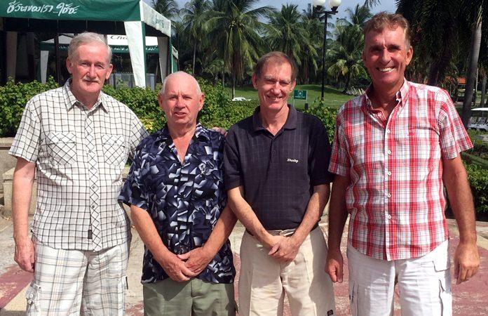 (From left) Sam Gettinby, Willie Hogg, Jonathan Pratt and Neil Harvey.