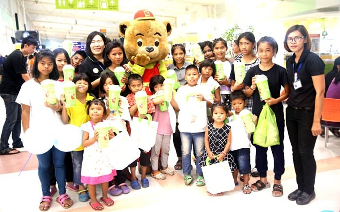 At the mall, the children were given1000 baht apiece and about an hour and a half to shop.