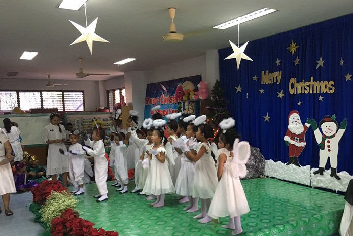 The performances ensued with the nativity enactment by the children.