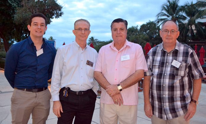 Lukas Griffis from Harrington Industries, Mike Griffis, General Manager, Director of Harrington Industries, Trevor Lan Dick, AustCham ESB Coordinator, and Peter Wisken.