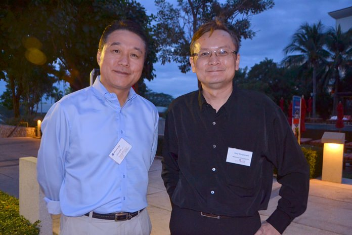 Capt. Lim Yeongtae, Vice President / Head of the Bangkok office of Eukor Car Carriers Thailand, and Gary Wongsarakit from Wilhelmsen Ships Service.