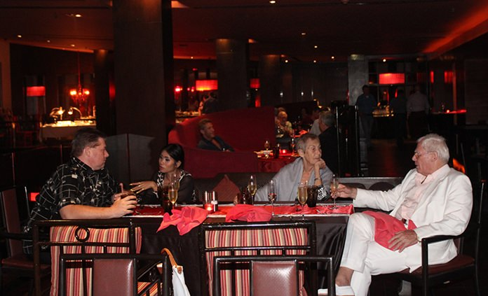 The convivial atmosphere at Mantra created a perfect start to the weekend.