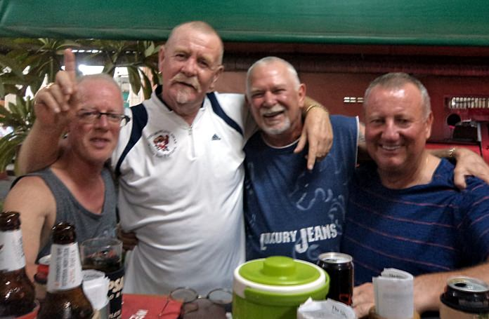 Shane Young with Glenn Smith, Peter Grey and Steve Younger.