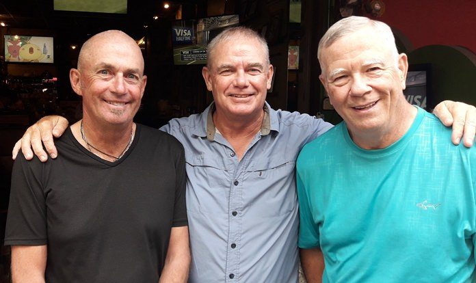 Phil Smedley (left) with Fred Birch and Alan Rothwell.