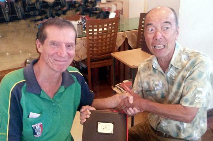 Tom Cotton (left) with Mashi Kaneta.