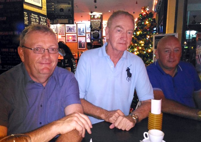 Michael Healey, Paul Young and Brian Keating.