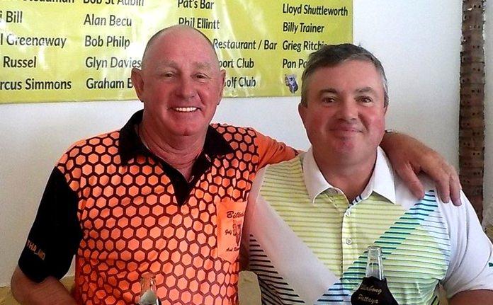 Capt. Bob (left) with Absent Friends organizer Richard Steadman.