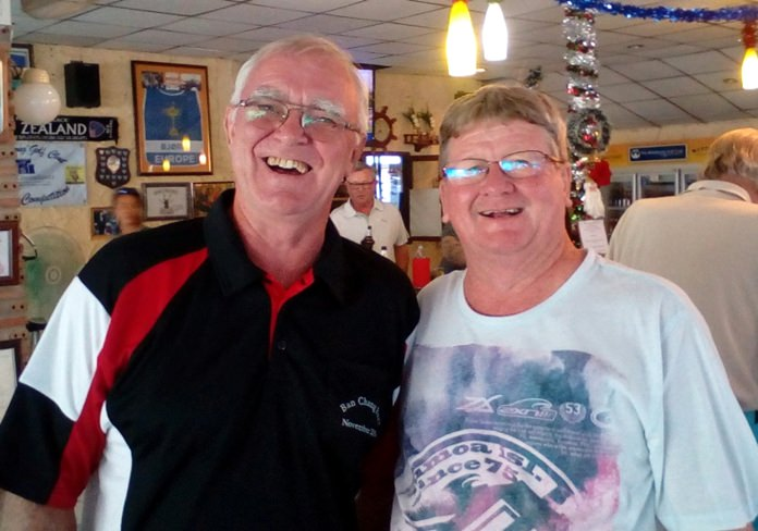 Wednesday winner Tony Oakes (left) with Wayne Cotterell.