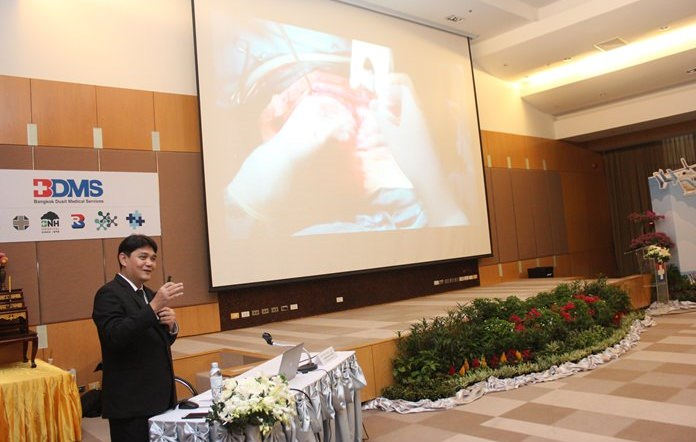 Dr. Somprasong Thongmeesri, director of the trauma surgery at Chonburi Hospital went through procedures on how to treat patients hurt in road wrecks, by drunk drivers, in fires and other mishaps.
