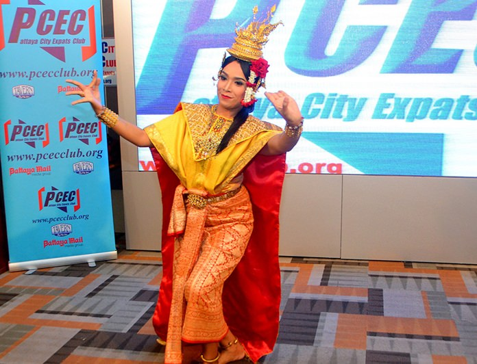 After the introductory dance by the children, their teacher also performed a solo classical dance for the PCEC.