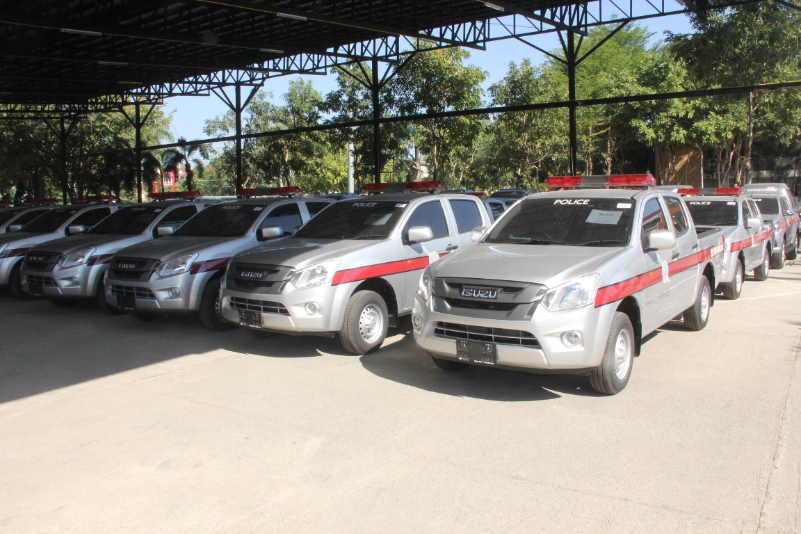 Provincial Police Region 5 received 57 new vehicles and 48 motorcycles for use in substations around the region.