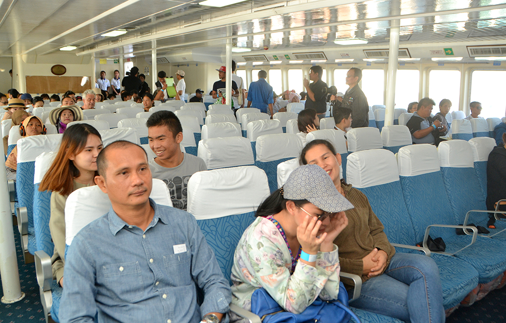 A look at the lower deck for economy class passengers.