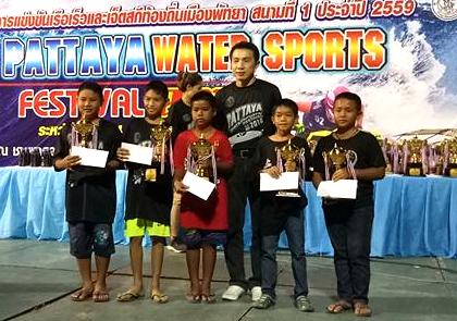 Junior winners receive their prizes.