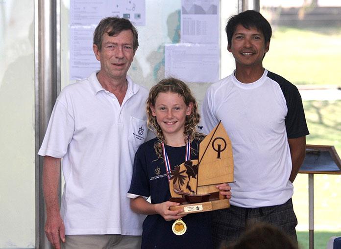 Chloe (centre) was the Optimist Future Cup winner.
