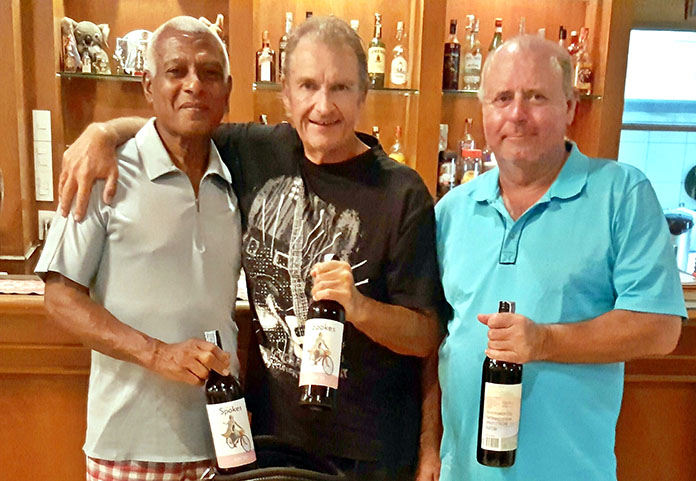 Landis Brooks (left) with Andre Van Dyk (centre) and Bob Watson.