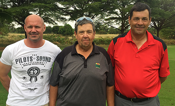(Left to right) Andre Coetzee, Maurice Copan and Greg Jones.