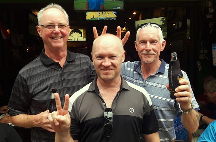 Blake Hanna, Graham Eldridge and Chris Bailey.