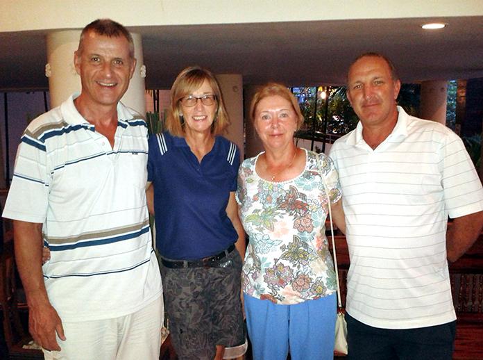 The winning scramble team (from left) Richard Kubicki, Carole Kubicki, Karen Brown and Rob Brown.