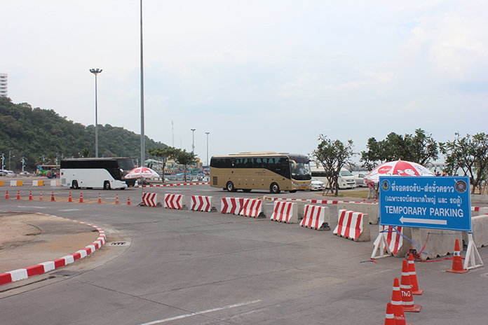 The traffic roundabout at Bali Hai Pier appears to be paying off, with congestion noticeably lessened.