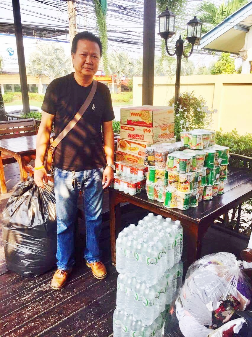 Food supplies came in thick and fast from Chokdee's bighearted customers.