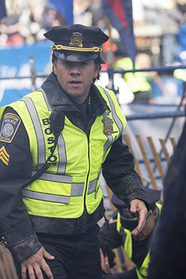 """Mark Wahlberg is shown in a scene from """"Patriots Day."""" (Karen Ballard/CBS Films and Lionsgate Films via AP)"""