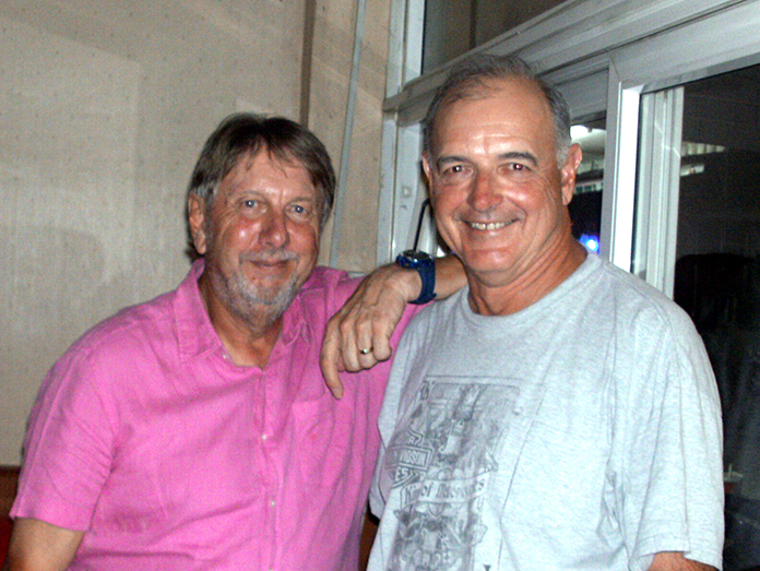 Peter LeNoury (left) with Marcus Earp.