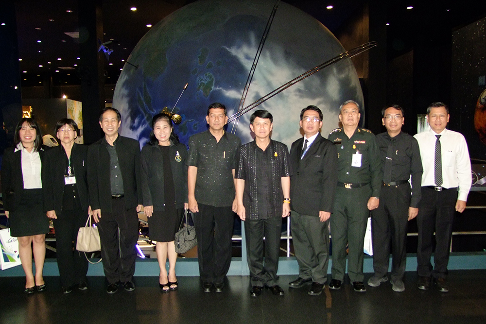 Officials toured the Space Inspirium, an educational tourist attraction split into 13 zones covering the science and history of space.