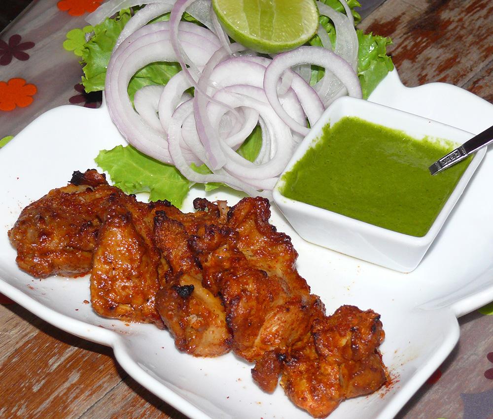 Tandoori Chicken, tender, moist and juicy.