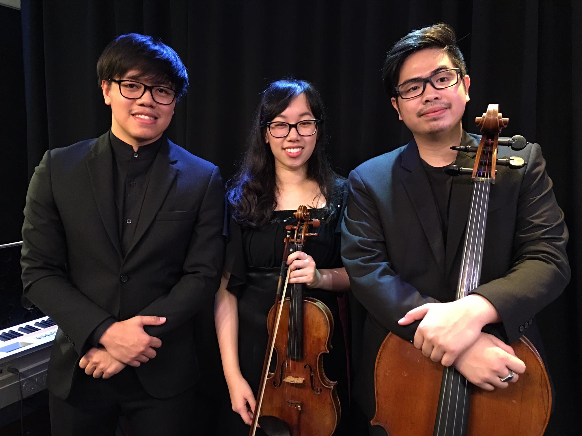 The Brille Trio (l-r): Yossral Songkiatkul, Varissara Tanakom and Vannophat Kaploykeo. (Photo/Ben Hansen)