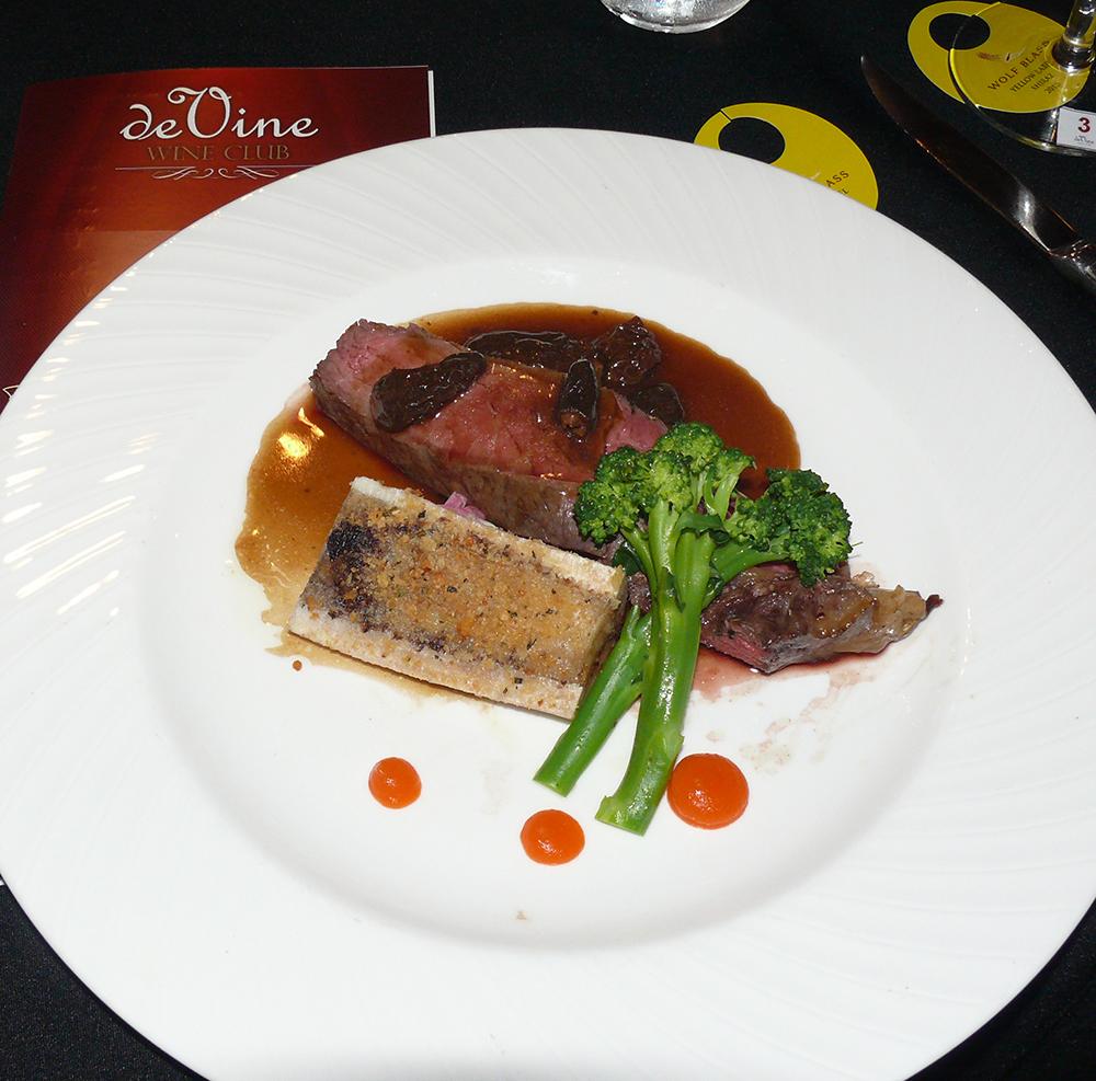 Roasted Charolaise main course.