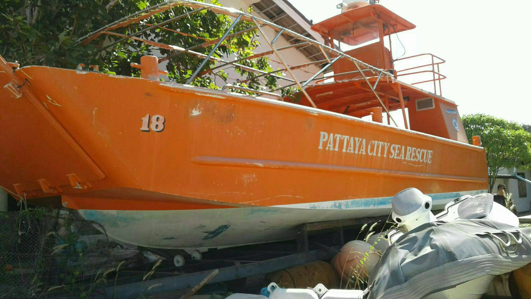 Pattaya has donated what it claims to be a 10-million-baht patrol boat to the Royal Thai Navy to use for marine rescues.