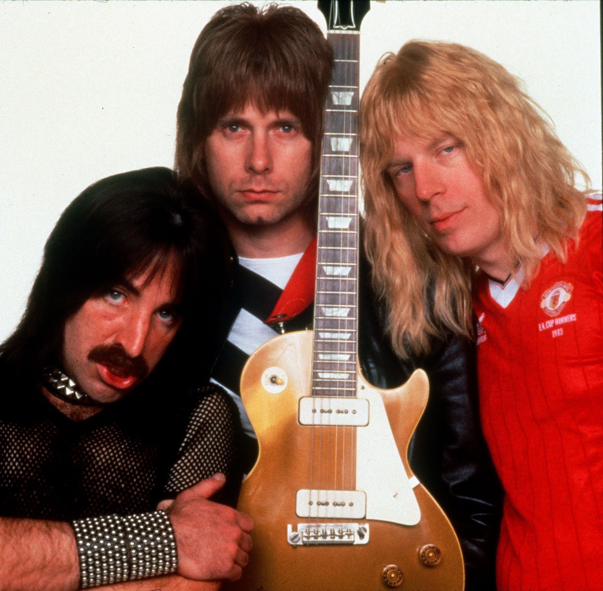 This undated promotional photo shows Michael McKean, right, Harry Shearer, left and Christopher Guest from Spinal Tap. (Photo: MGM via AP)