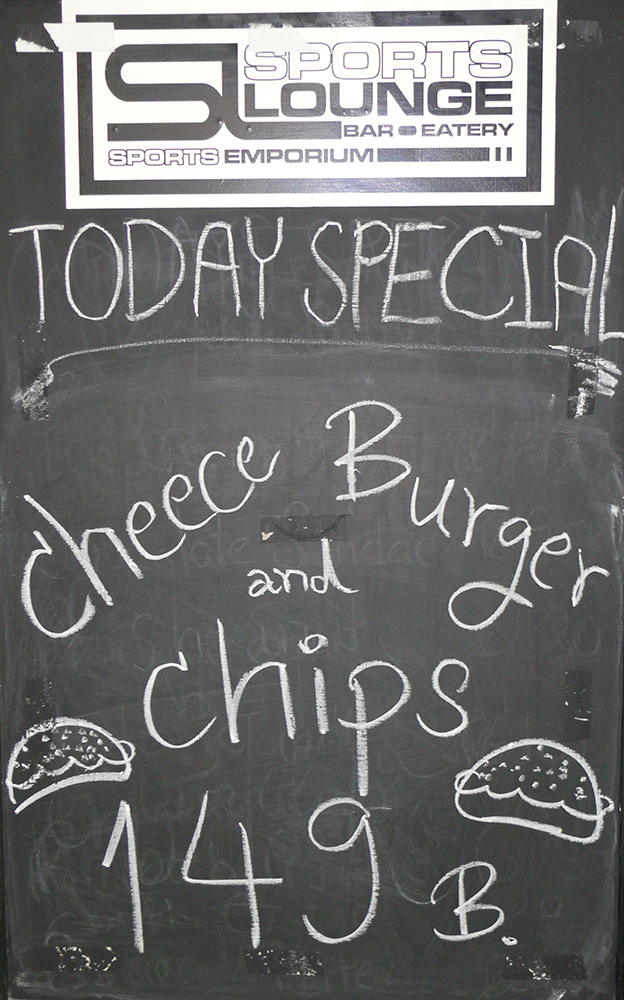 The special of the day.