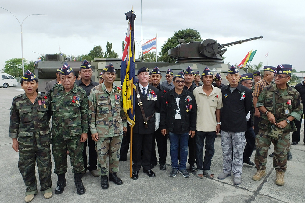 Standard Bearer Richard Holmes with Thai Veterans.